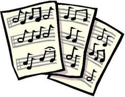 sheet music clip notes